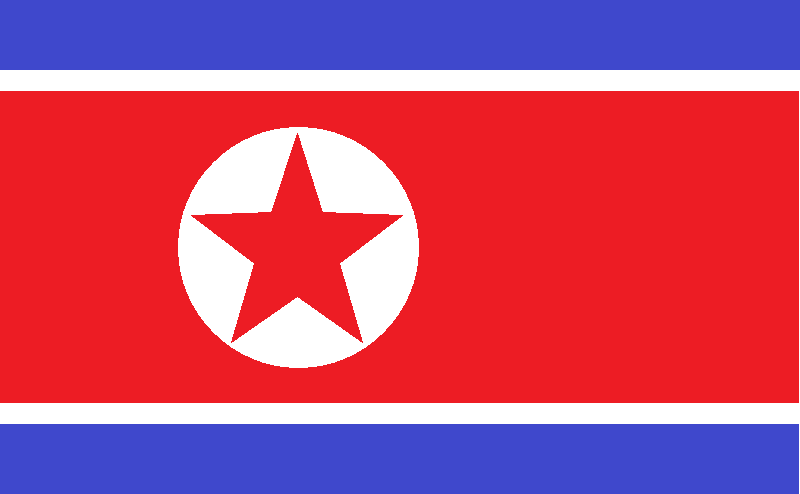 11年7月14日,闲时,用windows上的画图软件,画了好多国旗,这个是朝鲜的